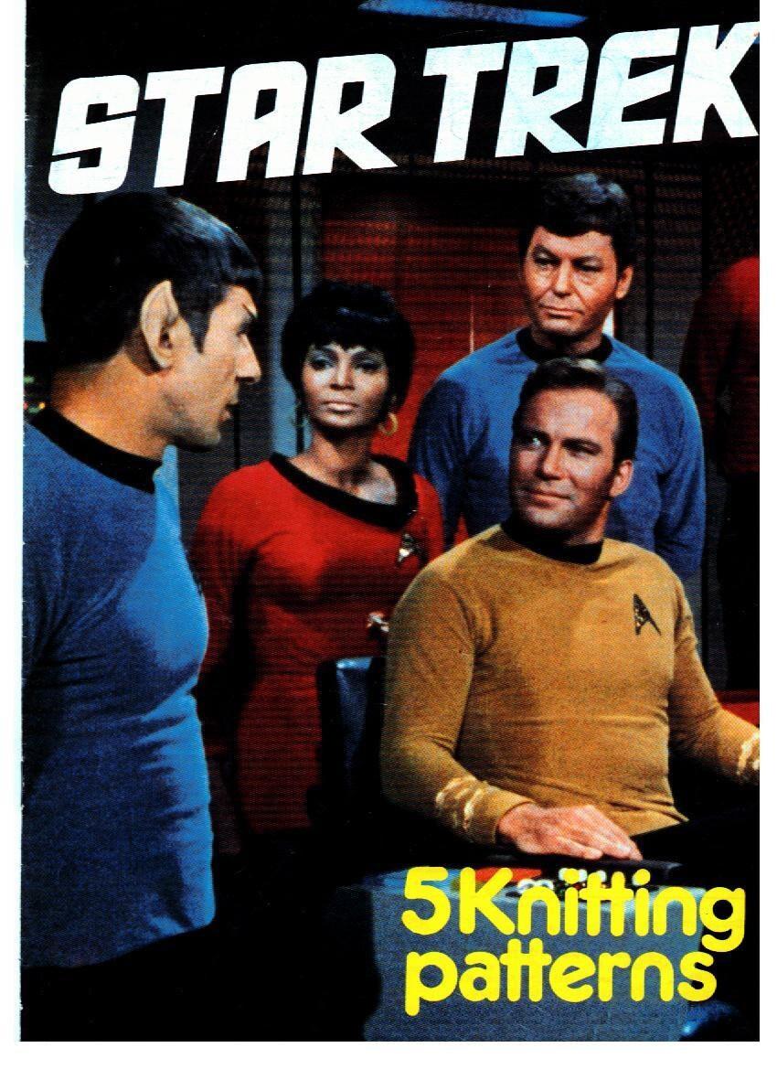 PDF Vintage Star Trek Sweater Knitting Pattern Vintage