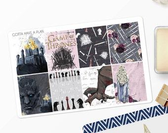 Planner Stickers Game Of Thrones Full Box for Erin Condren, Happy Planner, Filofax, Scrapbooking