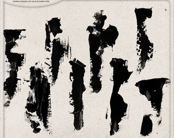 Brush Strokes, Handmade Digital Paint Brushes for Photoshop, Commercial Use OK, Instant Download, Gel Medium, Acrylic Paint, Mixed Media