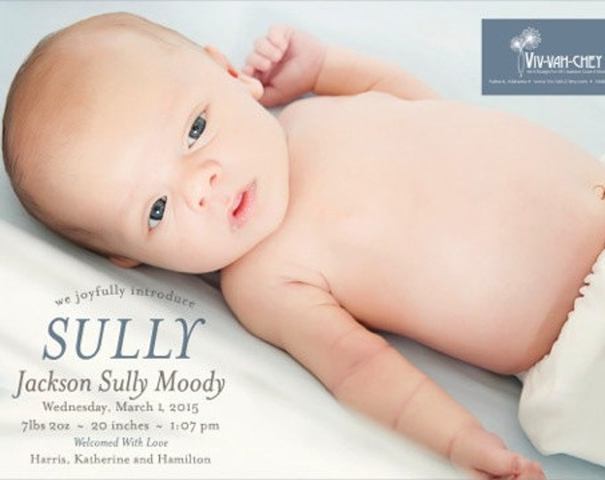 Simply Traditional | Photo Birth Announcement
