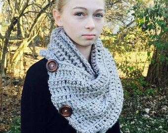 Multi-Way 3-Button Scarf-Crochet Pattern