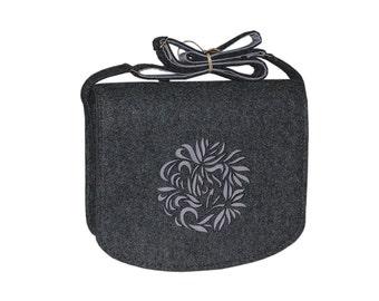 Felt Laptop bag 15 inch with pocket, satchel, Macbook Pro 15 in, shoulder bag Custom size Laptop bag, sleeve, case