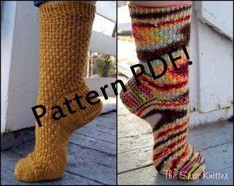 Jekyll & Hyde Socks: PDF Unisex Sock Knitting Pattern by The Sexy Knitter