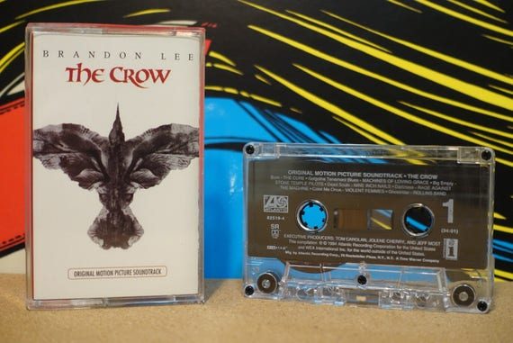 The Crow (Original Motion Picture Soundtrack) by Various Artists Vintage Cassette Tape