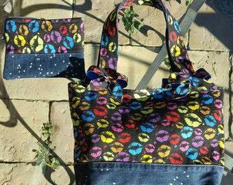 Fabric bag and jeans/shoulder bag/denim bag