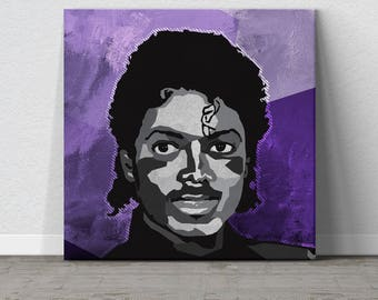 Michael Jackson, King of Pop, Music, Pop Art, Affordable Wall Art, Colorful Wall Art, Purple Wall Art, WPAP, Gift