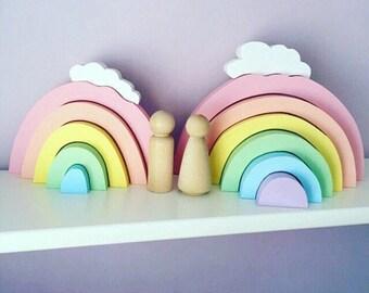 Wooden Rainbow Stackables