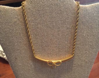 Vintage Gold Choker with Bow