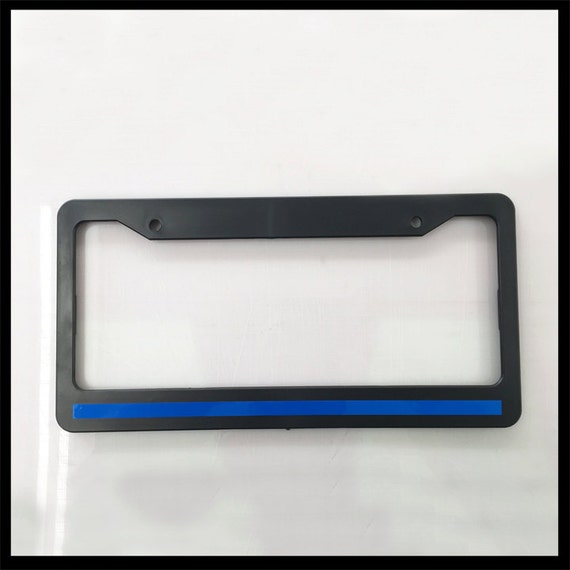 Thin Blue Line License Plate Frame - Best Plate 2017