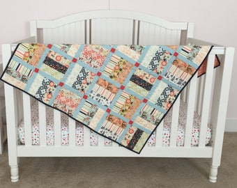 Baby Crib Play Quilt Woodland Floral
