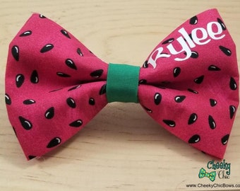 Add On: Custom Name to Pet Bow Tie, Dog Bowtie, Cat Bow, Personalized
