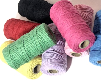50 metres x cotton string, bakers twine, jute twine, gift tags, gift wrapping, gift ribbon, coloured string, bakers string, craft twine