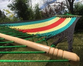Rasta Double Hammock with...