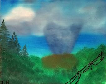 The Storm Art: tornado decor, tornado art work, storm decor, storm wall art, stormy art decor, wall art