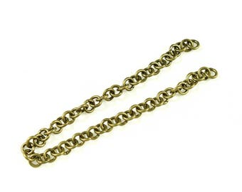 bronze 6 chains 18cm with metal rings.
