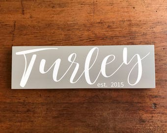 Personalized Name Sign Personalized Family Name Sign Personalized Signs Established Sign Wooden Signs Name Wood Sign