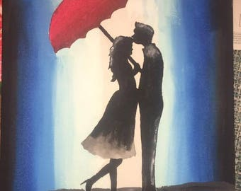 Rainy Romance Painting