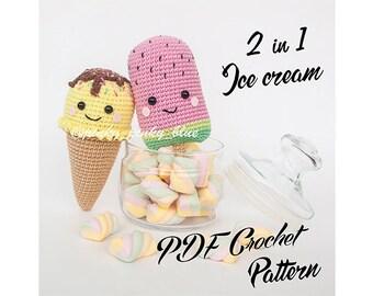 2 in 1 Ice Creams Crochet Pattern
