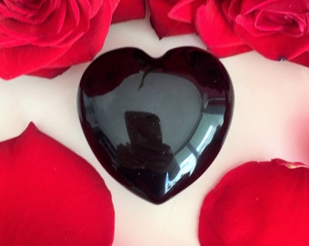Black Obsidian Heart Perfect Protection Amulet Girlfriend Gift