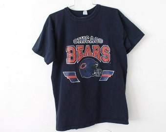 LARGE Vintage 1980s Chicago Bears Champion 100 Cotton T-Shirt