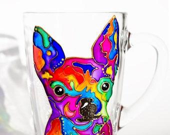 Chihuahua Mug, Dog Mom Cup, Custom Dog Coffee Mug, Dog Lover Gift