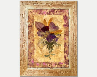 Pressed Flower Art Pressed Botanicals Dried Flower Frame Well Art Décor Pressed Plant Art Framed Flowers Herbarium Specimen Botanical Art