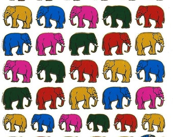 Scrapbooking stickers little elephants Board 13 cm x 10 cm