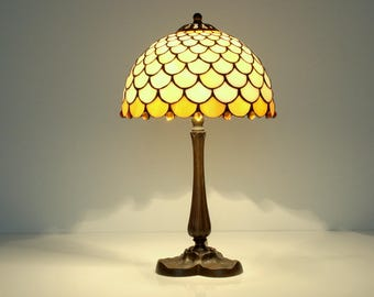 Tiffany lamp. Small lamp. Stained glass lamp. Bedside lamp. Small table lamp Tiffany style lamp Stained glass lamp shade Lamp for nightstand
