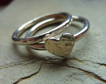 Stacking Heart Rings