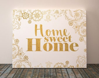 Home sweet home wall sign, Canvas home decor, Home sweet home wall art, Home sweet home wall decor, Home sweet home personalized