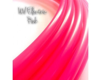 "5/8"" UV Electric Pink Colored Polypro Hula Hoop// Dance Hoop// Performance Hoop// Hot Electric Neon Bright Magenta Rose"