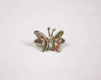 Mexican Butterly Abalone Ring 6-7 adjustable