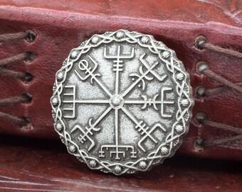 Vegvisir Pin Brooch