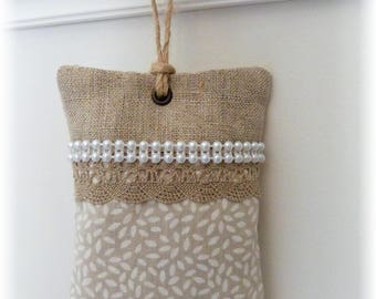 Scented with Cabinet in linen and cotton Lavender sachet