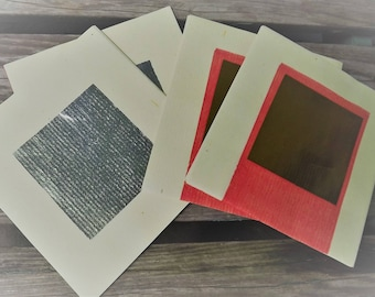 50 Gold and Silver Paper Squares for Collage Mixed Media Art Craft Scrapbooking etc...