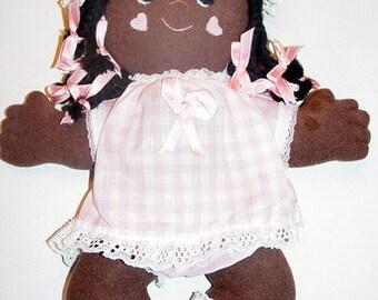 "Easy Cloth Rag Doll PDF Pattern Puddin' Pie  15"" Pancake Doll Pattern- Easy Beginner PDF Sewing Patterns by Peekaboo Porch"