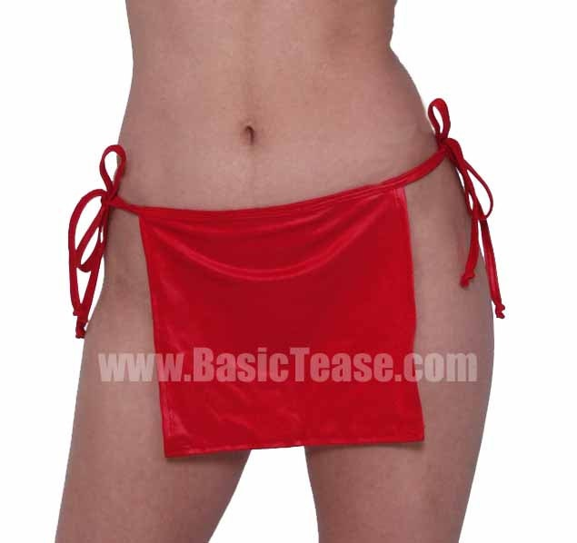 Short Side Tie Stripper Skirt for Exotic Dancers and Cover up