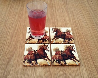 Horse coasters - horse lover gift