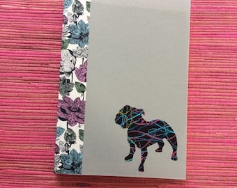 Staffordshire Bull Terrier Doggy Tales Notebook in Liberty London Art Fabric