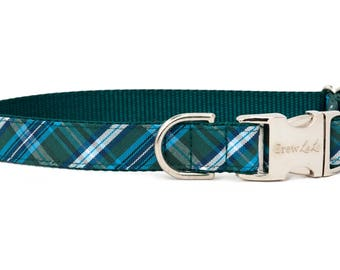 Crew LaLa™ Hunter Plaid Dog Collar