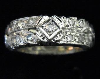 Red Carpet Era Eternity Diamonds 14k White Gold Band Ring Anniversary Wedding LAYAWAY AVAILABLE
