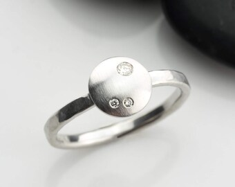 Stack Diamond ring, Diamond engagement ring, white diamond ring, diamond jewelry, diamond stacking ring, engagement diamond ring, 14K gold