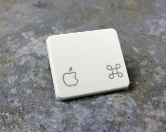 Apple Command Key, Pin, Recycled, Mac, Keyboard, Key, Jewelry, Handmade, Wedding, Birthday, Anniversary, Gift