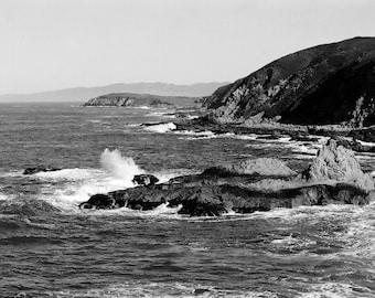 Photograph near Bodega Bay, California - Black and White 4