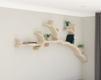 NEW PRODUCT | The Wiltshire Oak Branch Shelf 2.4m Size | Branch Shelf | Tree Bookshelf | Tree Shaped Book Shelf | Made in the UK