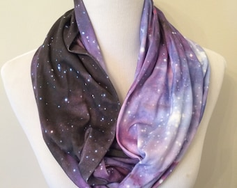 Galaxy Infinity Scarf - Purple Galaxy Scarf, Nebula, Outer Space, Stars, Celestial