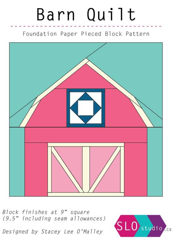 Barn Quilt Foundation Paper Pieced Quilt Block Pattern Barn