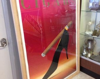 Razzie vintage cigar poster