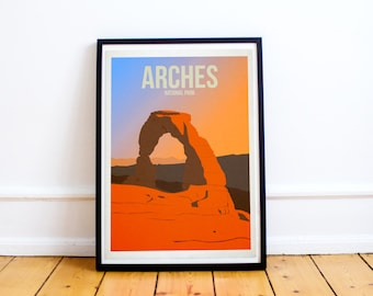 Arches National Park - US National Parks - Art Print - (Available In Many Sizes)