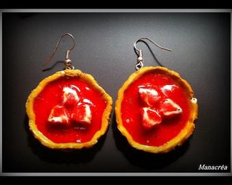 Strawberry pie earrings